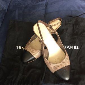 Chanel Slingback Heels - Size 7